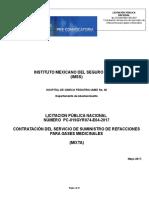 Expediente 1332338 - Servicio de Suministro de Refacciones Para Gases Medicinales