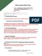 cda --lesson plan form science 1
