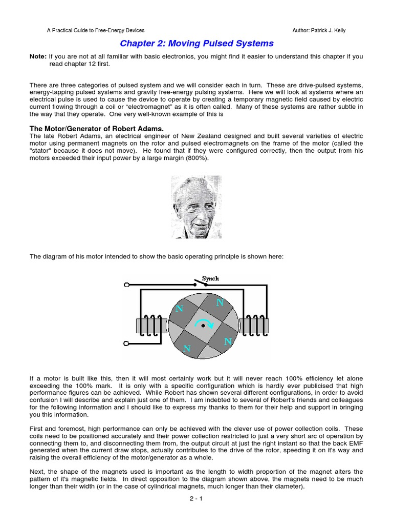 Free Energy Devices >> A Practical Guide To Free Energy Devices Pdf Electric Generator