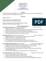 master 1 resume
