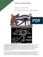 El Ojo de Horus, Amuleto y Medida - Terraeantiqvae.blogia