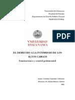 2011_El Derecho a La Intimidad de Los Altos Cargos_España