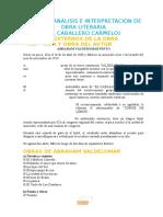 Análisis Caballero Carmelo