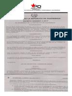 Ley de Proteccion y Bienestar Animal Decreto 5-2017