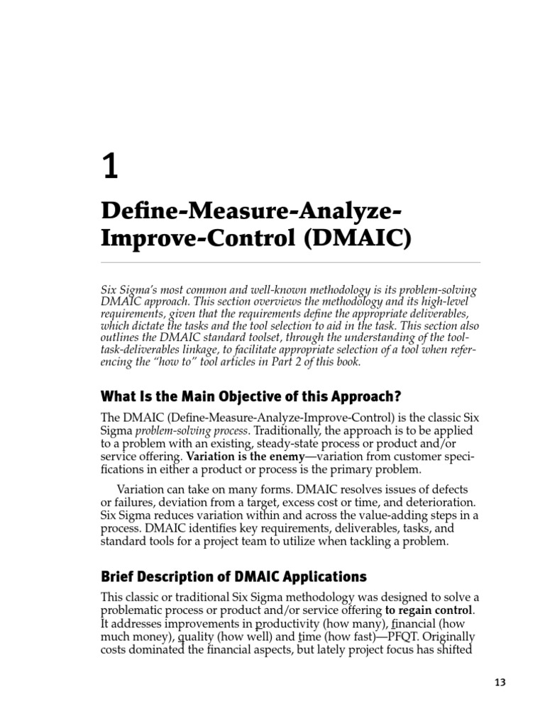 Analyze Improve Control Aic Six Sigma Design For Six Sigma