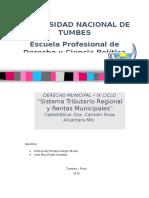 Sistema Tributario Nacional y Rentas Municipales (Grupo N_ 18)