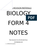 Biology Form 4 Notes