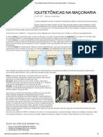 As Ordens Arquitetônicas Na Maçonaria - No Esquadro_temas Pilares