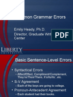 Common Grammar Errors