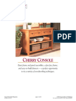 [Woodworking Plans] Woodsmith Magazine Cherry Console