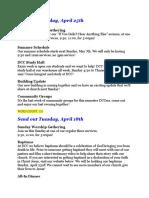 newsletters for internship