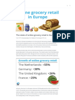 The State of Online Grocery Retail in Europe