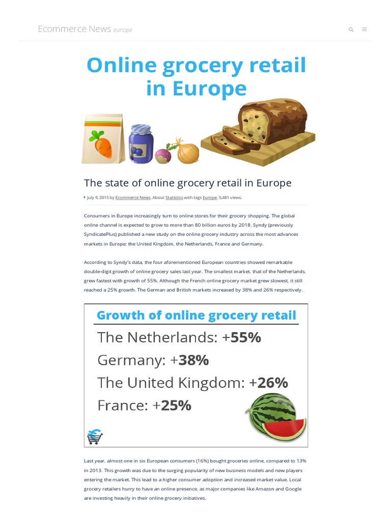The State of Online Grocery Retail in Europe | Grocery Store