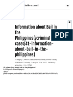 Information About Bail in the Philippines