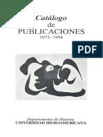 Catalogo Publicaciones 1973 1994