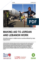 Making Aid To Jordan And Lebanon Work: Aid effectiveness in middle income countries affected by mass displacement