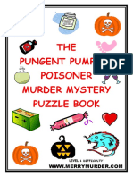 The Pungent Pumpkin Poisoner Murder Mystery Puzzle Book