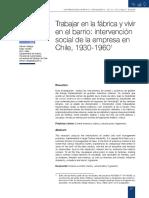 Hernán Venegas - Trabajar en La Fábrica y Vivir en El Barrio. Intervención Social de La Empresa en Chile, 1930-1960