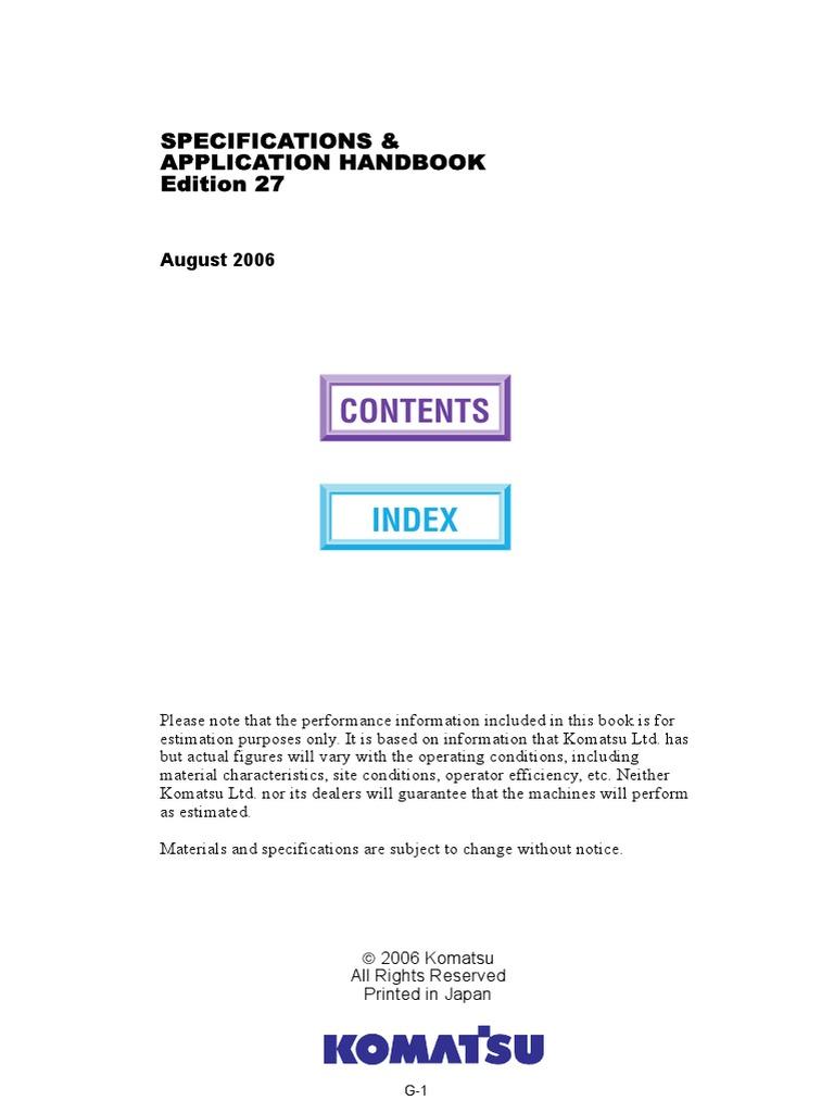 Handbook-Komatsu-Edition27 pdf