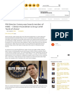 FBI Director Comey Was Board Member of HSBC – Clinton Foundation & Drug Cartel 'Bank of Choice'