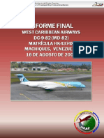 Infome Vuelo 708 Caribean West