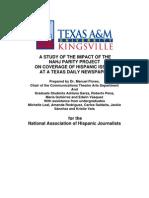 Texas A & M Univ., Kingsville Content Audit of Parity Project @ Corpus Christi Caller-Times