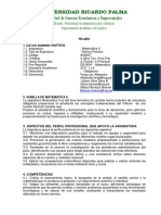 1.AG0207.Matematica II.silabo y Avance