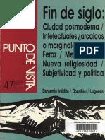Oscar Teran El payador de Lugones o las mentes que mueven las moles , PUNTO DE VISTA, Rev de cultura