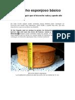Torta Esponjosa Básica