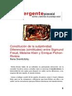 Constitución de La Subjetividad.