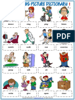 Action Verbs Vocabulary Esl Picture Dictionary Worksheets for Kids