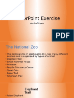 powerpoint exercise - national zoo