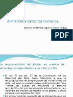 Alimentos y Derechos Humanos en Diapositivas .