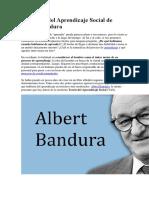 La teoria del aprendizaje social de Albert Bandura