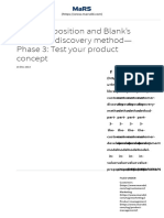 Blank's Customer Discovery Method Part 3 _ Customer Development in Value Proposition _ Entrepreneur's Toolkit