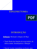 Esplenectomia.