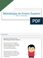 Curso Metodologia Do Ensino Superior m0 SB