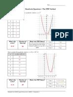 Step Pattern in Quadratic