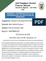 Analisis Ley Fundamental de Educación