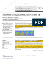 Three-dimensional CFD–VOF–DPM simulations of effects of low-holdup particles on single-nozzle bubbling behavior in gas–liquid–solid systems