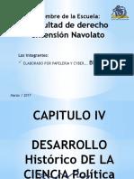Desarrollo Historico de La Ciencia Politica PAPELERIA Y CYBER BENG