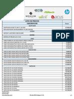 Nueva Lista de Precios Grupo Acus