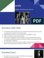pankhursts presentation