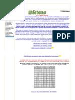 Tabla de Medidas de Hélices - AEROMODELISMOFACIL
