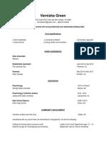 vernisha 27s resume