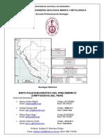 6to Trabajo Mapa Paleogeográfico Del Precámbrico (Criptozoico) Del Perú