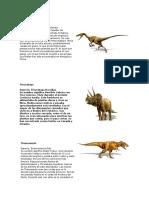 Dinosaurios Flash Cards