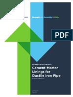 Cement MortarLiningsforDuctileIronPipe