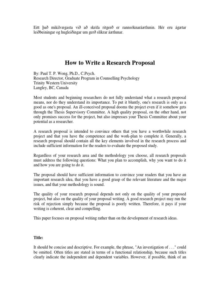how to write a proposal for a research paper sample Sample proposals for the writing guidelines for engineering and science students: a proposal to research the storage i will rely on the paper presented by.