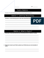 poetry station packet